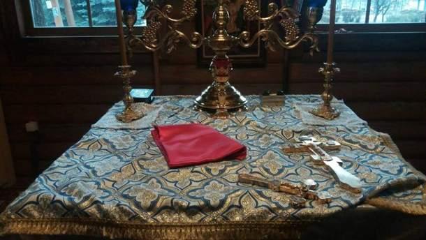 Ограбленный храм УПЦ МП в Киеве