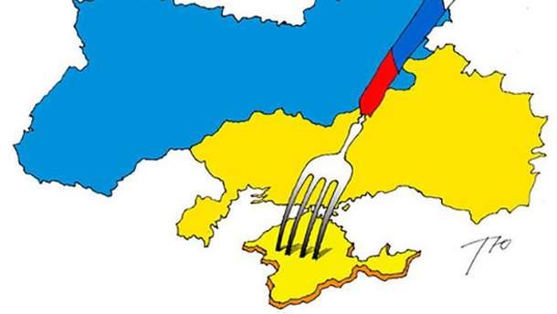 Карта з російським Кримом