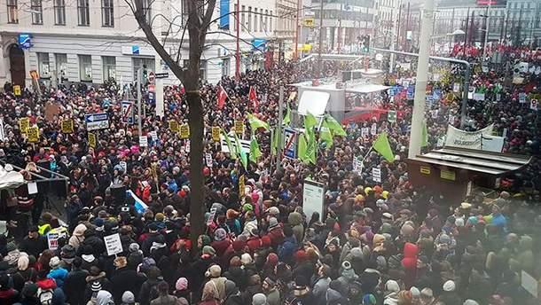 Протести в Австрії 13 січня