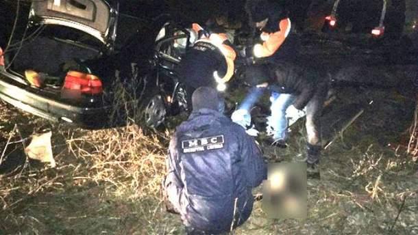Мощное столкновение двух машин в Ровенской области