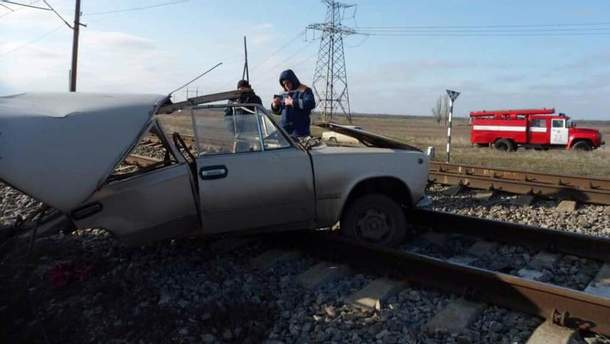 Аварія на залізниці у Запоріжжі