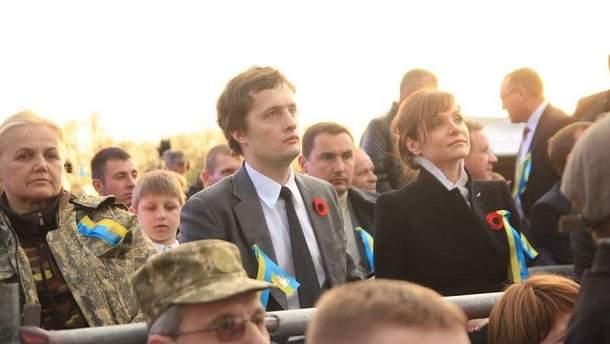 Алексей Порошенко с женой Юлей
