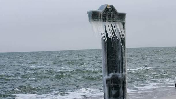 Одеса. Замерзлий пляж