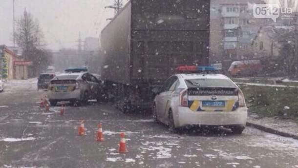 Полицейские попали в аварии в Николаеве