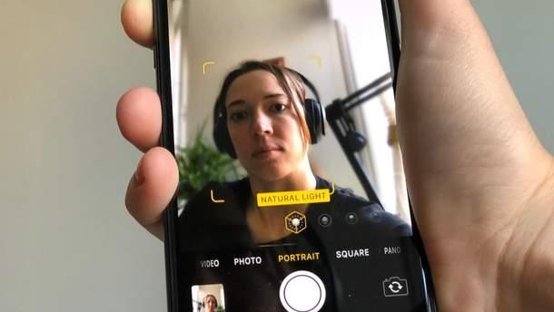 Размытие головы на фронтальной камере в iPhone X