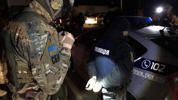 Задержание полицейских в Харькове