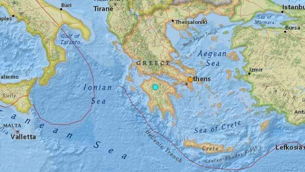 Грецию всколыхнуло землетрясение
