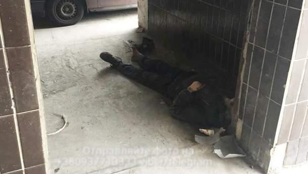 Смерть бездомного в Киеве