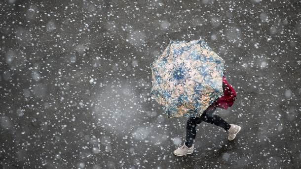Украину ожидают снегопады и изменение температуры