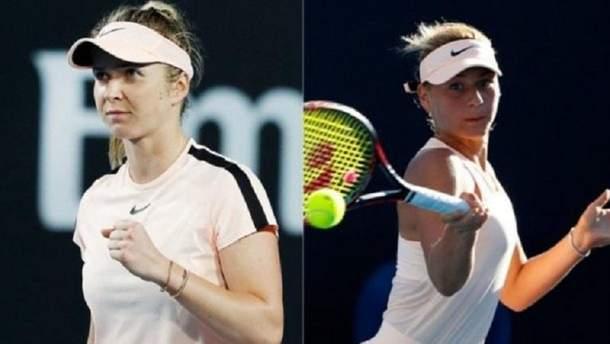Украинские теннисистки