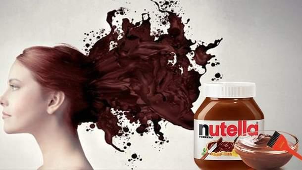 Фарбування волосся Nutell'ою