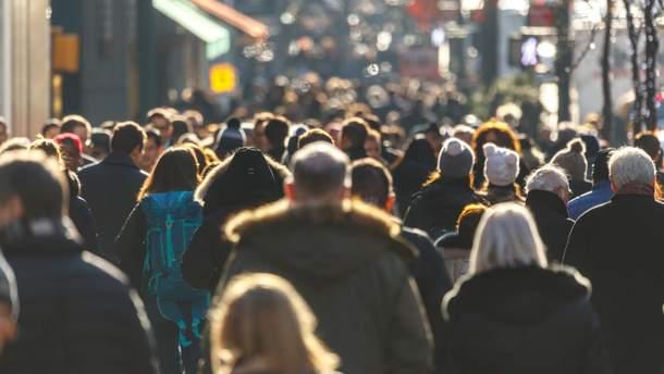 В Украине уменьшилось количество населения