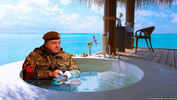 Порошенко відпочив на Мальдівах