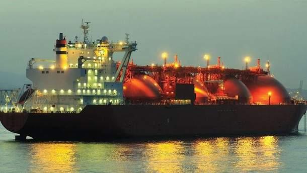 Російський танкер з газом