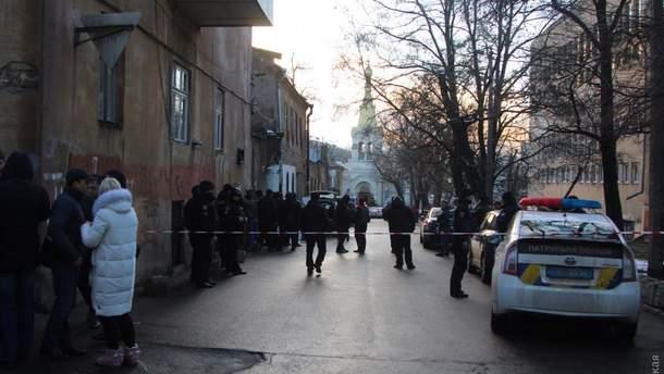 Место перестрелки в Одессе