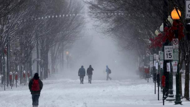 Снегопад в Виргинии