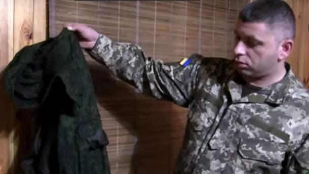 Захваченный в плен диверсант был в форме российской армии