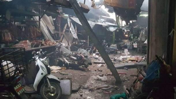 Взрыв на рынке в Таиланде