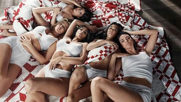 Сестры Кардашьян-Дженнер для Calvin Klein
