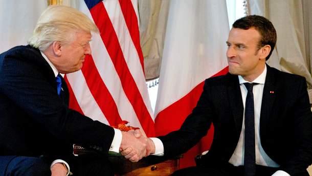 """Макрон назвал отношения с Трампом """"крепкими и прямыми"""""""