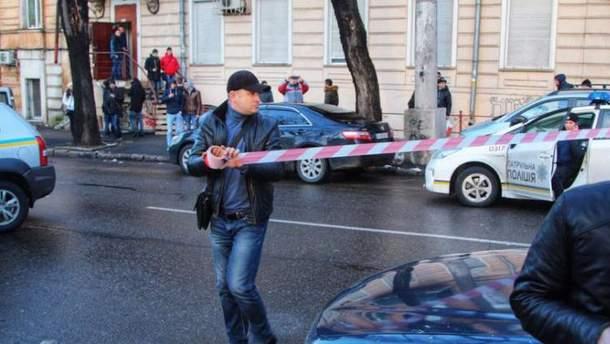 Место стрельбы в Одессе