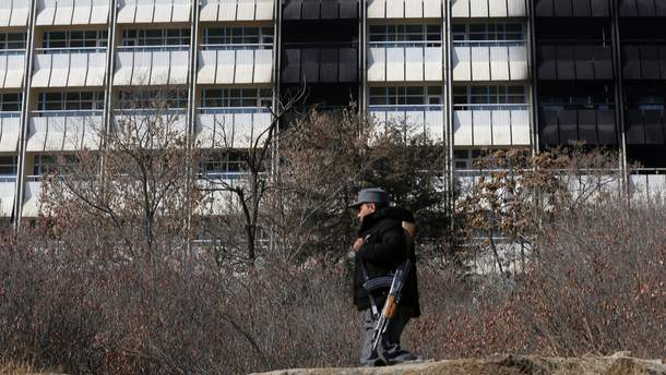 Готель Intercontinental у Кабулі після терористичного нападу