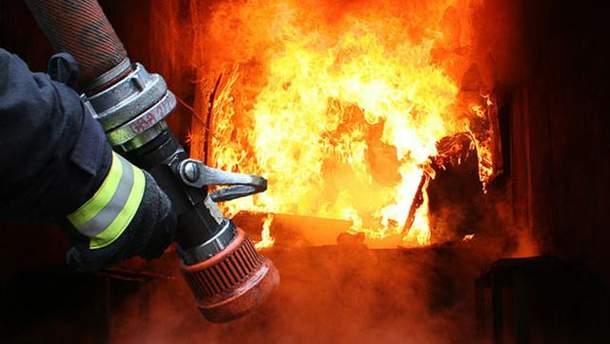 Пожежа у наметовому таборі ЗСУ