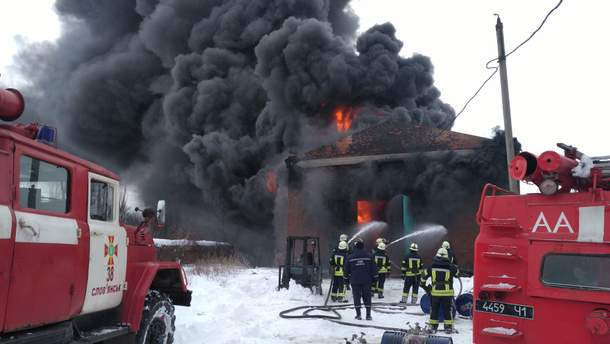 Пожар в Славянске
