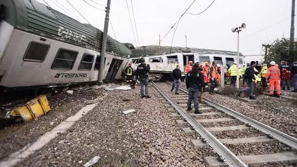 Потяг зійшов з рейок біля Мілану