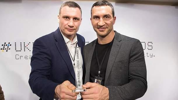 В Давосе братья Кличко получили специальную награду