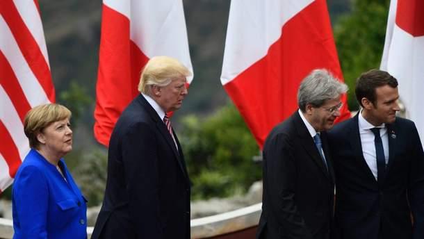 Лидеры трех стран ЕС во время форума в Давосе раскритиковали политику Трампа