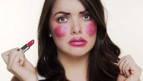 Ошибки в макияже