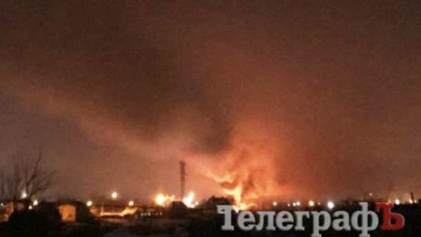 В Кременчуге взорвался вертолет, есть жертвы