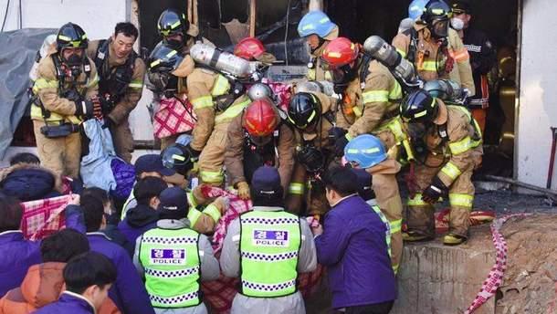 Пожар в больнице в Южной Корее