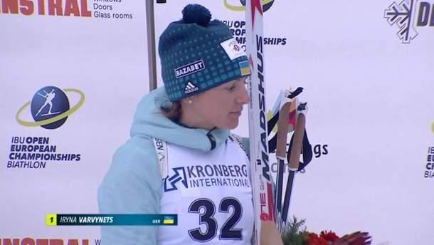 Ирина Варвинец победила в спринте на Чемпионате Европы