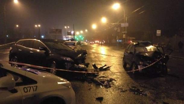 Смертельная авария на улице Стеценко в Киеве