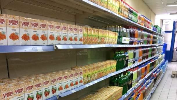 Скудный супермаркет на оккупированной Луганщине насмешил соцсети
