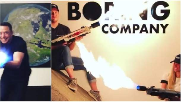 Илон Маск с новым огнеметом The Boring Company