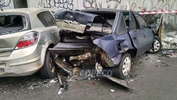 В масштабной аварии в Киеве разбили 6 машин