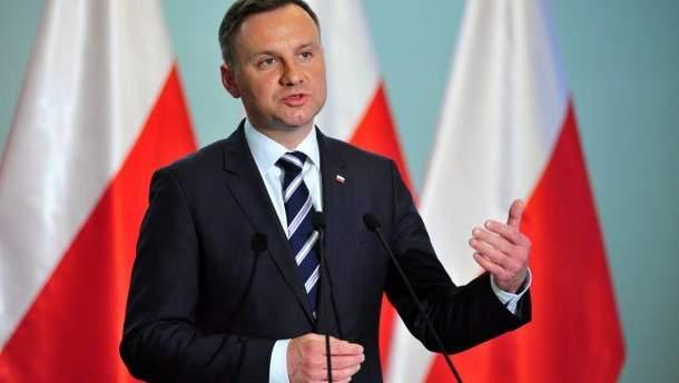 """Дуда прокоментував закон про заборону """"бандеризму"""" у Польщі"""
