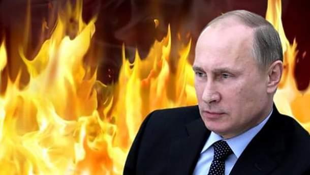 Владимир Путин в огне