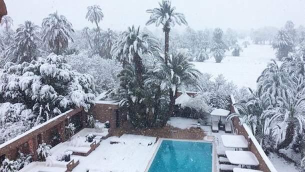 Снег в Марокко