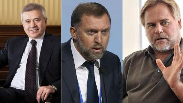 """Російські олігархи із """"кремлівського списку"""""""