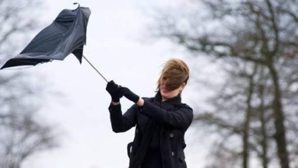 В Украине порывы ветра будут достигать 20 м/с