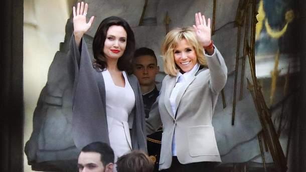 Анджелина Джоли и Бриджит Макрон
