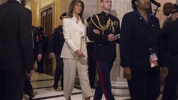 Мелания Трамп приехала в Конгресс отдельно от мужа
