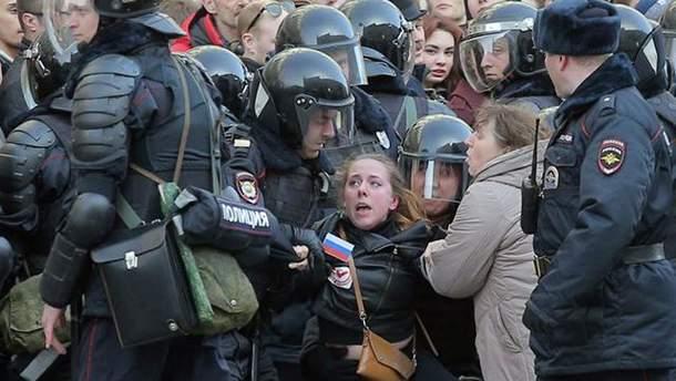 Разгон митингов в России
