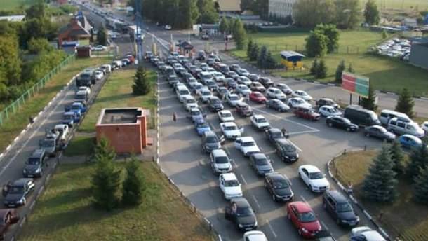 Очереди на границе с Польшей