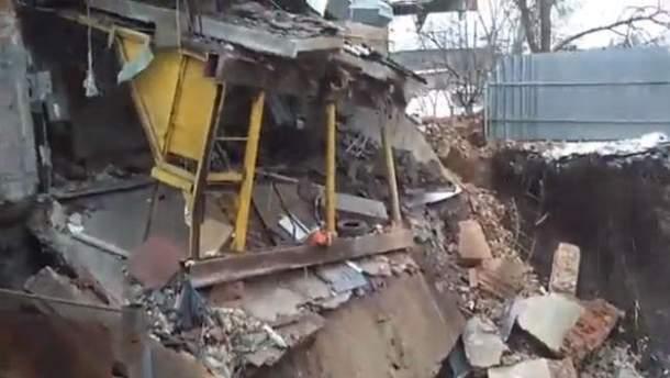 В Харькове здание провалилось сквозь землю