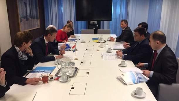 Глава МИД Павел Климкин осуществил рабочий визит в Нидерланды